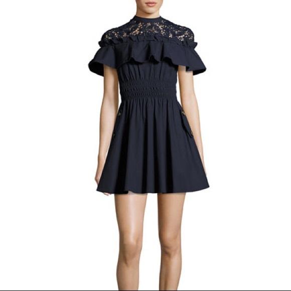 6a759267329e Self-Portrait Dresses | Selfportrait Hudson Mini Dress Navy | Poshmark
